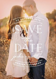 Love the simplicity of this save the date