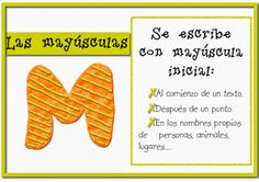 Blog de 4ª A: Ortografía: la mayúscula Types Of Sentences, 3rd Grade Writing, Spanish, Signs, School, Ideas Para, Google, Blog, Writing Strategies