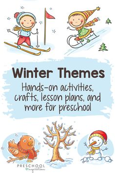 Whether you need winter crafts, hands-on learning activities, lesson plans, or themes for teaching preschool, we've got you covered! Kindergarten Lesson Plans, Kindergarten Activities, Preschool Activities, Winter Preschool Themes, Time Activities, Winter Activities, Friendship Theme, Winter Theme, Snow Theme