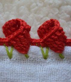 Crochet Borders, Crochet Flower Patterns, Crochet Designs, Crochet Stitches, Knit Crochet, Saree Tassels, Knitted Flowers, Diy Origami, Beaded Bags