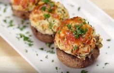 Dorable Stuffed Mushroom Recipes Garlic Parmesan Stuffed Mushrooms Recipe Tasty for [keyword Bien Tasty, Appetizer Recipes, Appetizers, Snacks Recipes, Keto Recipes, Mario Y Luigi, Stuffed Mushrooms, Stuffed Peppers, Garlic Mushrooms