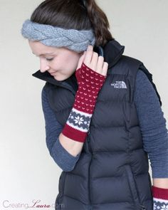 Useful DIY Winter Fashion Crafts - Arm Warmers from a Pair of Socks