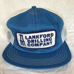 f1287df193b2f7 Vintage K Products Cap Lankford Drilling Snapback Mesh Trucker Hat USA  Patch #KProducts #TruckerHat