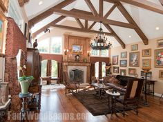 Image result for vaulted ceiling beams