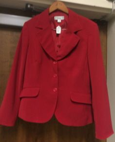 John Meyer Women Red Blazer Size 16  #JohnMeyer #Blazer