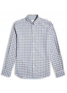 NAVY COTTON CHECK Casual Shirt