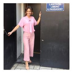 Repost @ingridmuccitelli in SFIZIO SS17 #Pink pants 💕