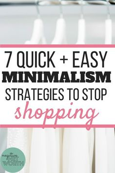 New to minimalism? Discover these 7 easy tips to stop overspending, with a FREE minimalist shopping checklist! Living On A Budget, Frugal Living Tips, Simple Living, Ways To Save Money, Money Saving Tips, Money Tips, Budgeting Finances, Budgeting Tips, Budgeting Worksheets