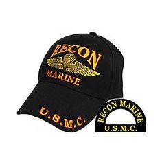 a3ca4b6d29f EMBROIDERED USMC US MARINES MARINE CORPS FORCE RECON BASEBALL CAP Marine  Ball