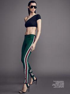 Duchess Dior: Stefania Ivanescu for Glamour Spain 2017 Gucci Pre Fall 2017, Fashion 2017, Fashion Models, Editorial Fashion, Fashion Photography, Dior, Stripes, Sporty, Glamour