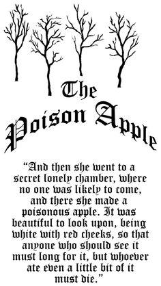 The Poison Apple (For Halloween Apple Jar) Halloween Labels, Halloween Art, Holidays Halloween, Halloween Decorations, Halloween Apothecary, Halloween Printable, Apothecary Jars, Snow White Quotes, Evil Princess