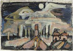 Ciel opale, paysage biblique. Georges Rouault, 1939.