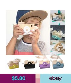 Developmental Baby Toys Kids Cute Wood Camera Toy Xmas Children Room Decor Natural Safe Wooden Camera F2 #ebay #Home & Garden