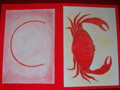 Waldorf ~ 1st grade ~ Letter: C ~ Crusty Crab ~ main lesson book