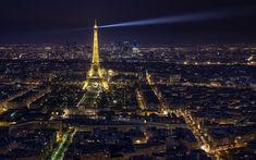 Download wallpapers Eiffel Tower, Paris, night, cityscape, France, Quartier Necker