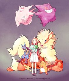 Ashley and her Pokémon team! Order for the trainer The waiting list is CLOSED until next year. Information and budget ONLY… Pokemon Oc, Pokemon Tattoo, Pokemon Fan Art, Lucario Pokemon, Pokemon Fusion, Charmander, Pokemon Stuff, Pokemon Cosplay, Pokemon Adventures Manga