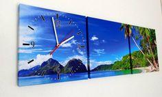 Klok op Canvas Bounty Island #wandklok #canvasklok #schilderij