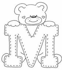 Cantinho da Jana: Riscos para pintura de alfabeto de ursinhos