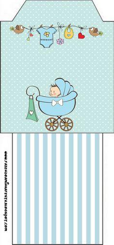 Saquinho de Chá Chá de Bebê ou Chá de Fraldas: baby shower treat box