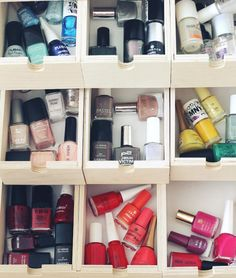 Color organized nail polish