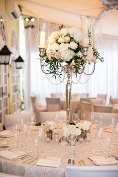 Setting The Stage With A High Fl Piece Find This Pin And More On Cafe Boulud Palm Beach Weddings