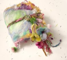 felted wool journal art book   enchanted forest by beautifulplace, $58.00