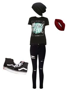 """Pierce the Veil"" by itseze on Polyvore featuring Hot Topic, Miss Selfridge, Vans, Lime Crime and plus size clothing"