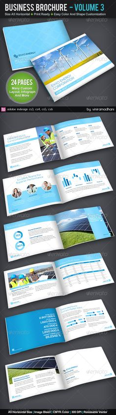 Corporate Business Brochure | Volume 3 #GraphicRiver Specs : adobe indesign cs3, cs4, cs5, cs6 Format indd Resolution 300 dpi Size A5 plus 3mm Bleed Color CMYK Photo not included on download files Fonts : Arial : Standard Font Nexa Free Font: .fontfabric /nexa-free-font/ Open Sans : .google /fonts/specimen/Open+Sans Created: 10October13 GraphicsFilesIncluded: InDesignINDD Layered: Yes MinimumAdobeCSVersion: CS3 PrintDimensions: 5.8x8.2 Tags: annualreport #booklet #brochure #business…