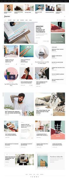 New design website layout inspiration wordpress theme ideas Web Design Trends, Design Web, Banner Web Design, Design Food, Blog Design, News Design, Design Ideas, Website Layout, News Website Design