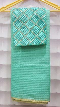 Venkatagiri Checks Saree With Designer Blouse | Buy Online Sarees | Elegant Fashion Wear