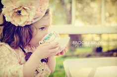 Little Girl Tea Party Shoot! This is a MUST do for my girls!