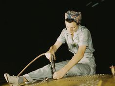 Rare color photos:   1940s working women