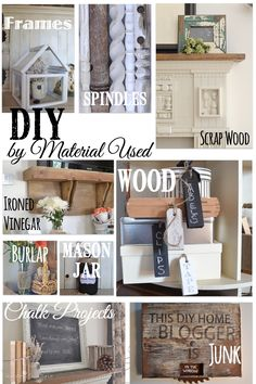 DIY project collected by the material used to make the home DIY projects. Country Design Style