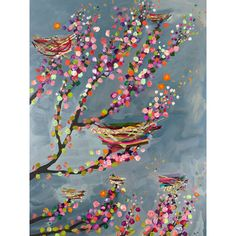 Found it at Wayfair - 'Nests and Berries' by Eli Halpin Painting Print on Canvas