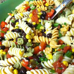 Black Bean & Corn Pasta Salad Recipe - Key Ingredient