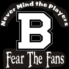 NEW Custom Screen Printed T-Shirt Boston Bruins Never Mind The Players Fear Fans