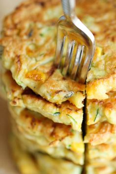Zucchini Corn Pancakes - Super easy pancakes perfect as a side dish or appetizer. And best of all, they are healthy!