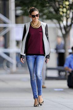 Olivia Palermo / light jeans