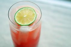 Combine raspberry simple syrup, fresh lime juice, and soda water to make this refreshing soda.