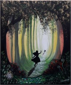 "alice in wonderland art by Stan Johnson.. "" i must keep up 2 """