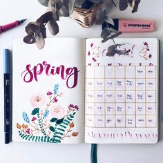 Love this so much 💐🍃 credit to Bullet Journal Banners, Bullet Journal Page, Bullet Journal Spread, Bullet Journal Inspiration, Journal Ideas, Bullet Journals, Creative Journal, Tittle Ideas, My Planner Colibri