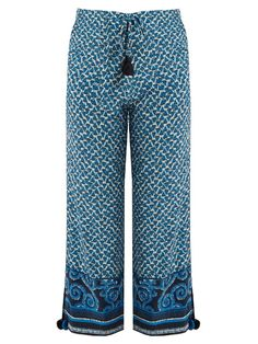 FIGUE Fiore Silk Cropped Trousers. #figue #cloth #trousers