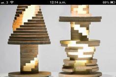 Jenga lamp