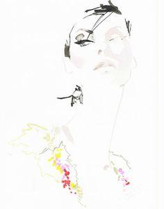 Supermodel Linda Evangelista by David Downton