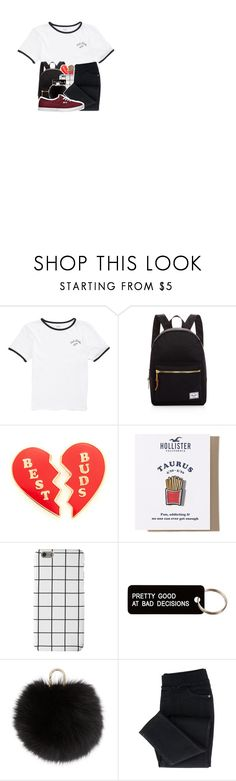 """""""Kaydi's outfit! { collab }"""" by be-robinson ❤ liked on Polyvore featuring Vans, Herschel Supply Co., Georgia Perry, Hollister Co., Various Projects and Yves Salomon"""