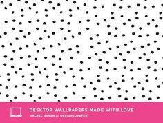 rachel green wallpaper / designlovefest