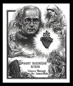 """Saint Maximilian Mary Kolbe, Priest and Martyr, Memorial """"From the Beginning it Was Not So…"""" Catholic Saints, Patron Saints, Maximillian Kolbe, Catholic Radio, St Maximilian, Saint Feast Days, Religious Art, Priest, Prayers"""