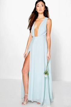 Shop Now - >  https://api.shopstyle.com/action/apiVisitRetailer?id=602751357&pid=uid6996-25233114-59 boohoo Eloise Wrap Front Chiffon Maxi Dress  ...