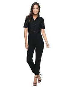 7c90e9f6fcc Home    Rompers    Guipure Lace Ponte Pant Romper by Juicy Couture Never has