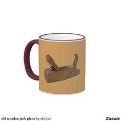old wooden jack plane ringer coffee mug